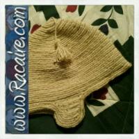 2014-12 Racaire nailbinded hood - christmas present - nailbinding