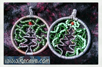 Racaire 2014 - trees of life - christmas trees - wire jewelry