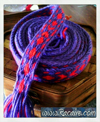 2016-04 - Racaire - tabletweaving - tablet woven band - tabletwoven band