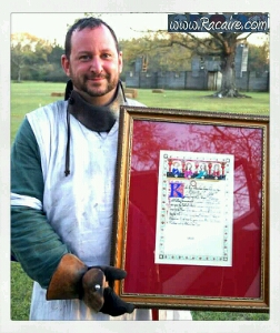 2017-03 - Racaire - Gulf Wars - rose tourney winner - rose tournament scroll - SCA