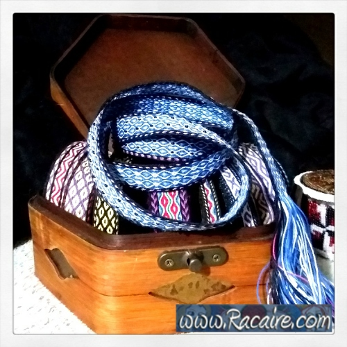 2018-03 - Racaire - tablet woven band - card woven trim - tablet weaving - card weaving - SCA - medieval weaving techniques - Kingdom of Meridies