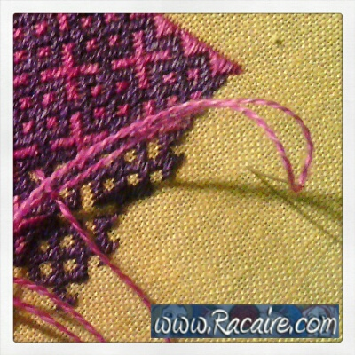 German Brick Stitch in progress