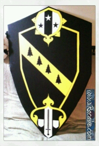 2016-06 - Racaire - heavy fighting - painted shield for my husband - SCA heavy fighting