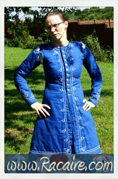 2016-07 - Racaire - my first embroidered arming coat / gambeson
