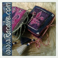 2014 - Racaire - medieval embroidery, hand embroidery - Klosterstich and chain stitch - needle book