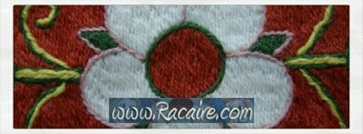 Racaire - Klosterstich - medieval embroidery - medieval rose - Craft with Racaire