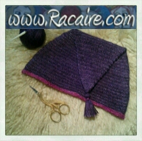 Revisited - 12th century nailbinded cap in purple with tassel :D