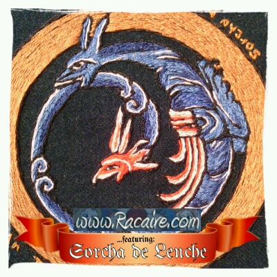 Racaire's wedding cloak project – patch #4 from the SCA Barony Montengarde in Avacal (Canada)