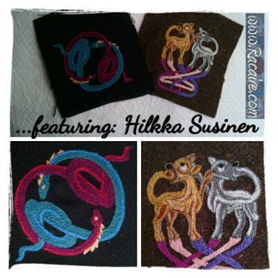 Patches from Ireland - embroidered by Hilkka Susinen