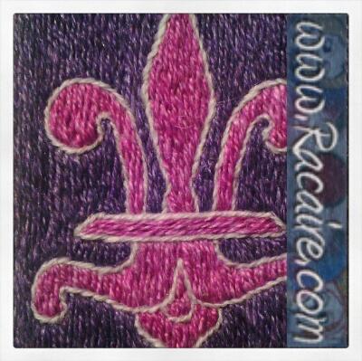Klosterstich - Fleur de Lis - Medieval embroidery
