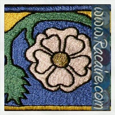 Klosterstich Rosenband - Medieval embroidery