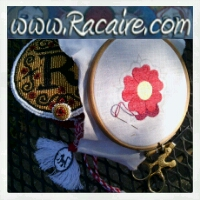 2014-10 - Racaire - Klosterstich - cloister stitch - medieval rose - hand embroidery - medieval embroidery - sneak-peek